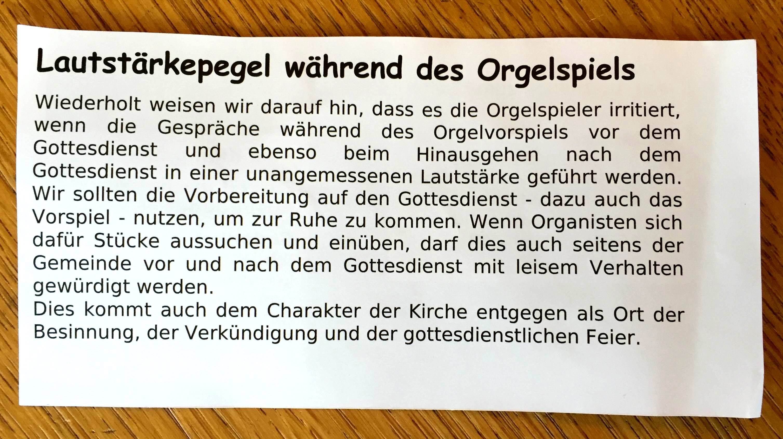 Veldhausen-Orgel-Gemeindebrief