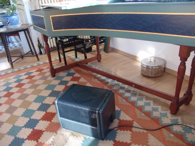 Venta-Kaltwasserverdampfer im Einsatz im Wohnzimmer